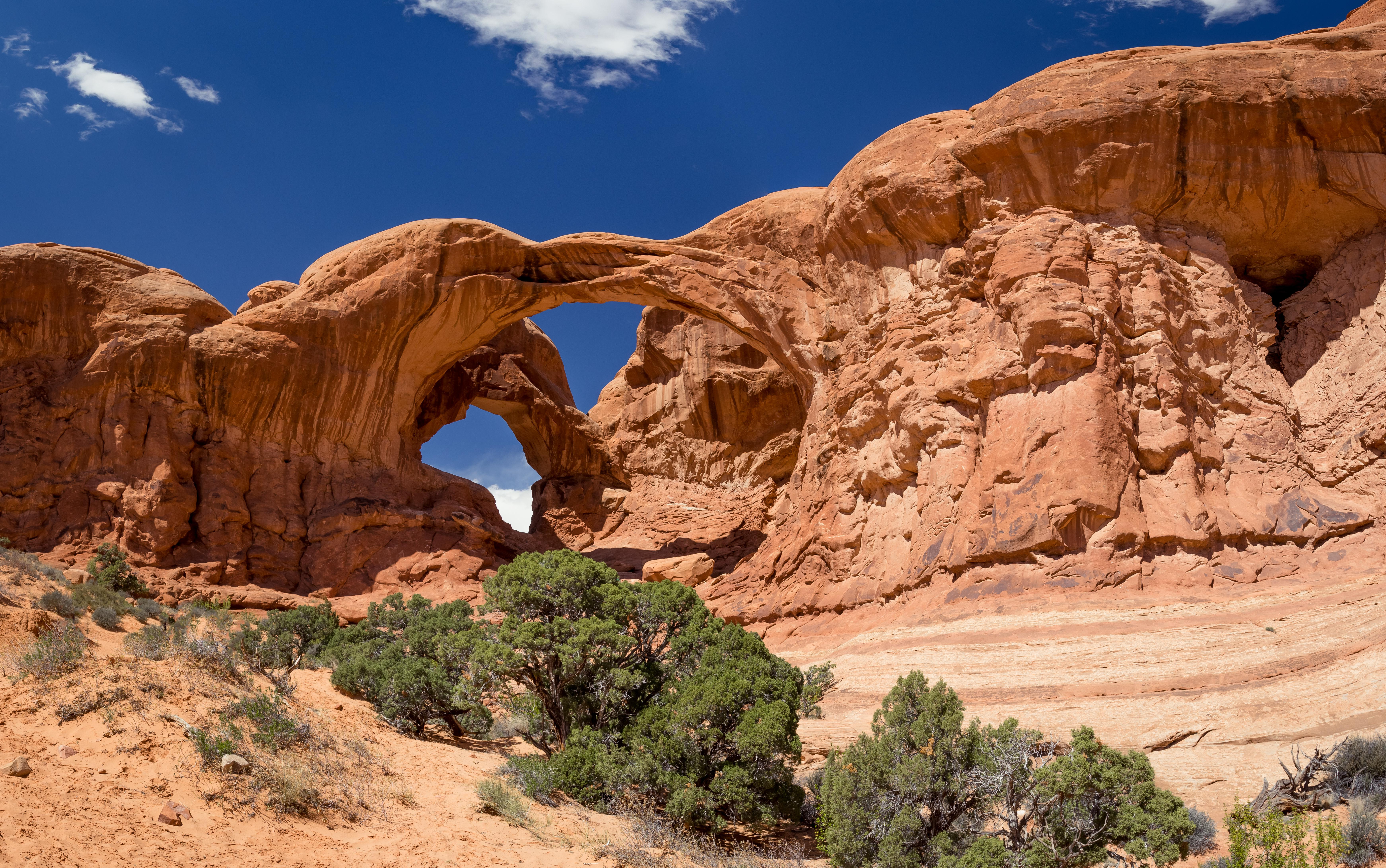 Double Arch In Arches National Park Utah Imageix