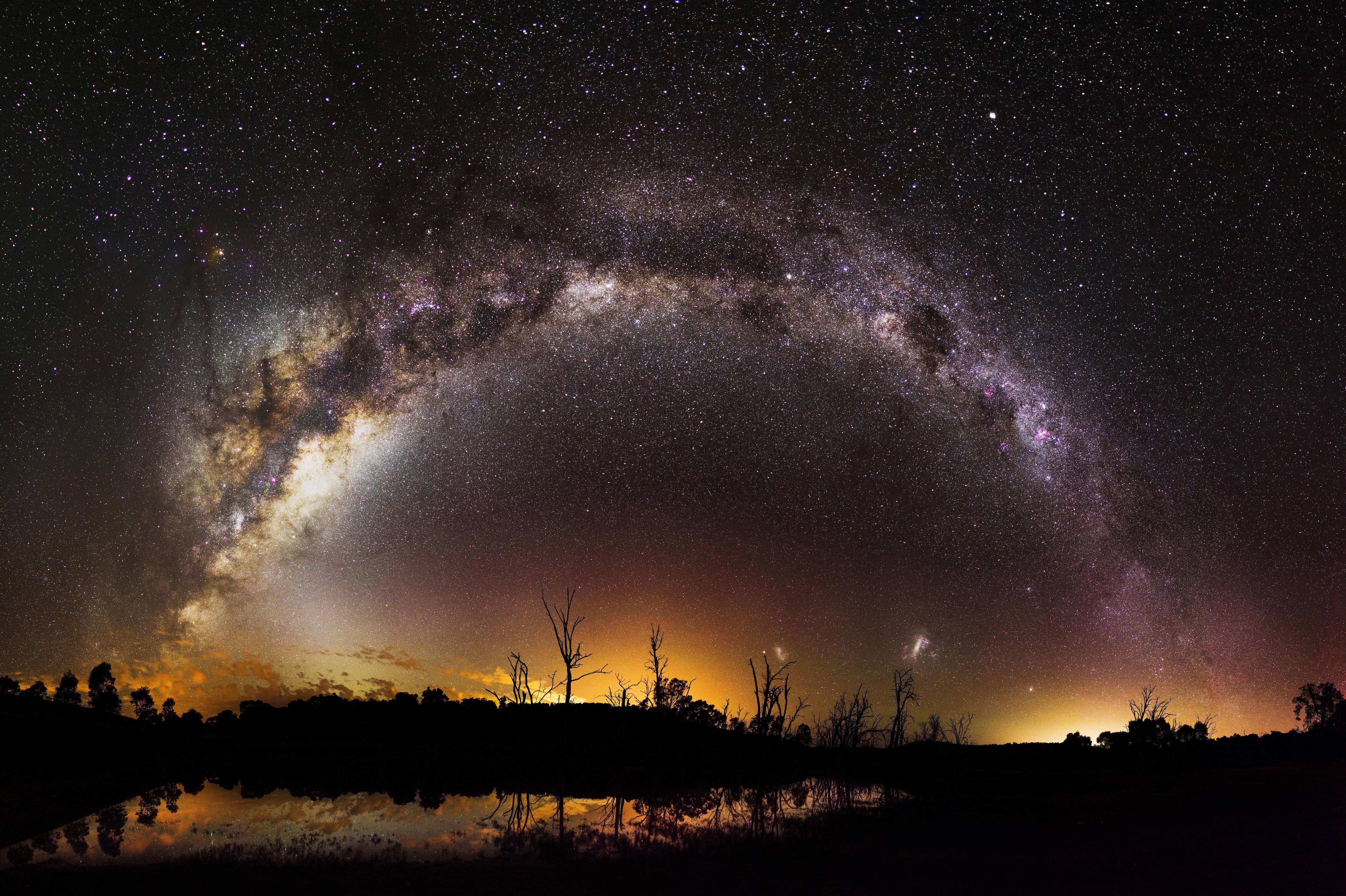 milky way from earth - HD 3840×2160