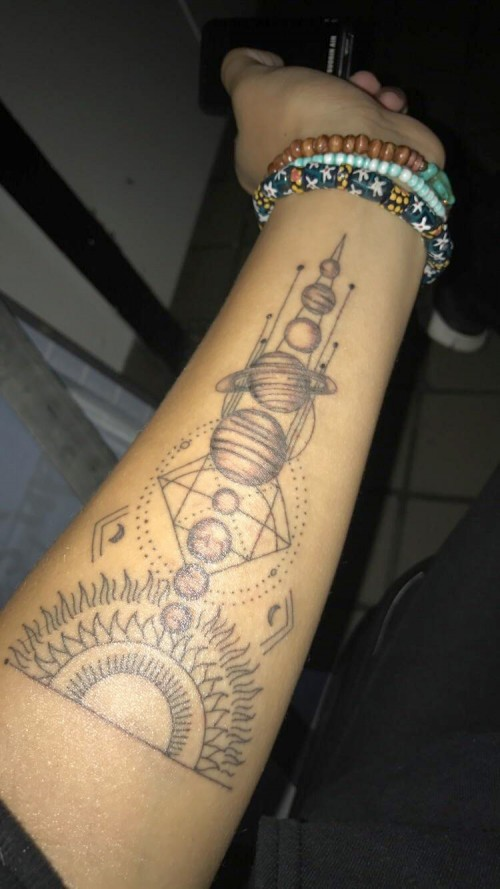 Solar System Planet Circle Tattoo: Solar System Tattoo By Ray At American Graffiti In