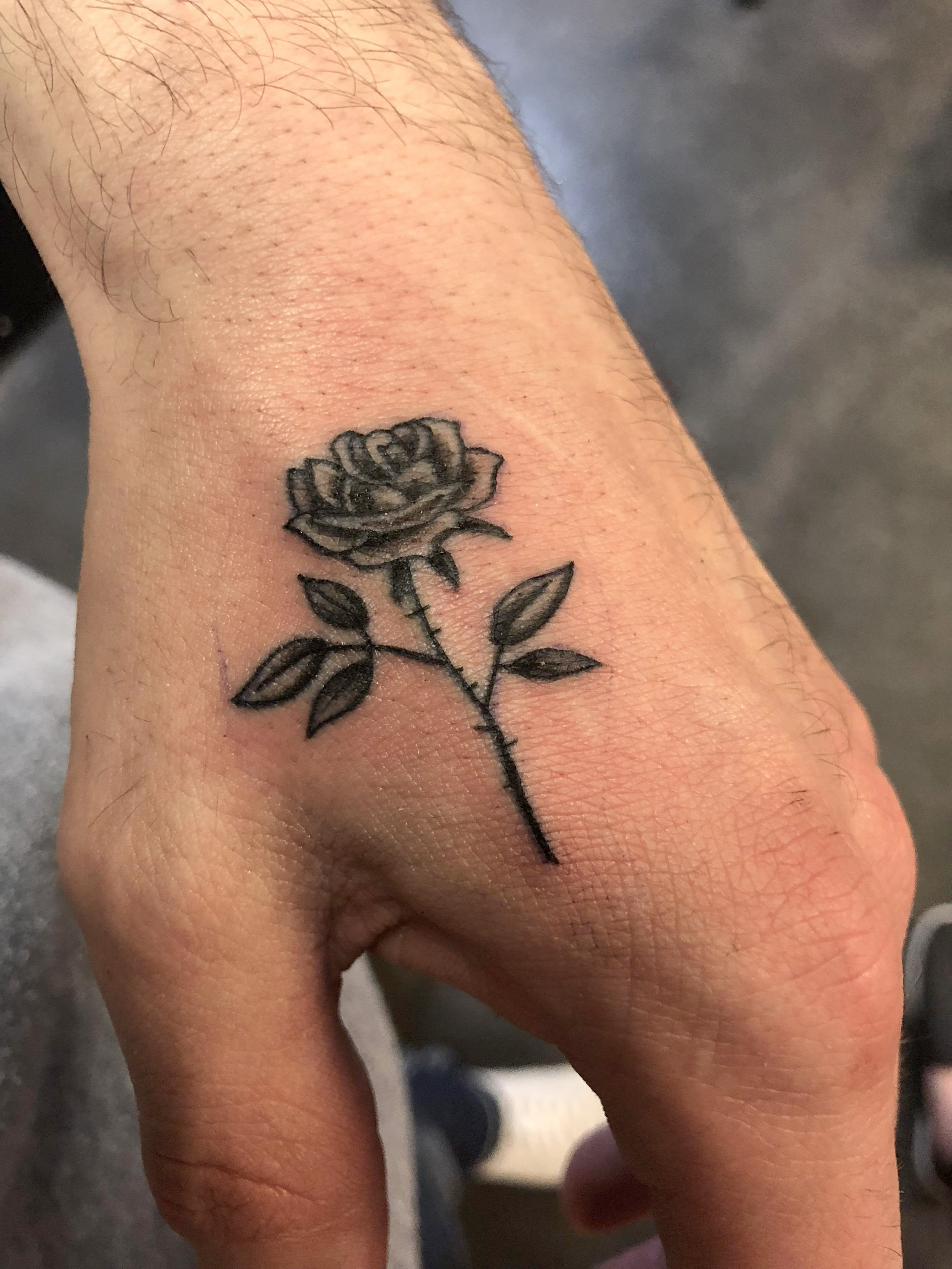 Rose by Brandon Blevins @ Sacred Hand Tattoo Society in Columbus ...