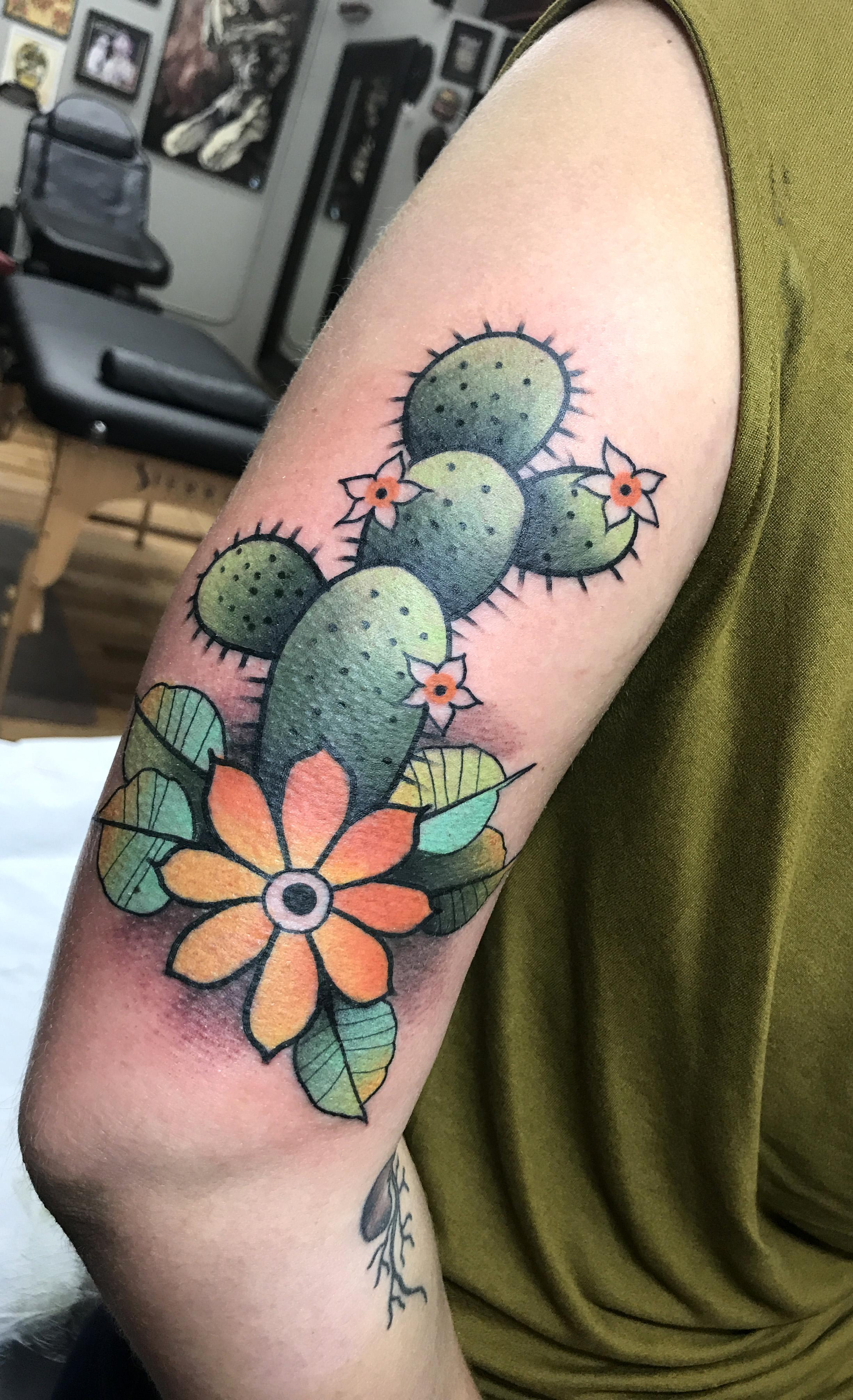 Cactus Tattoo by Teddy Nigels @ EOD Tattoos Denver, CO ...