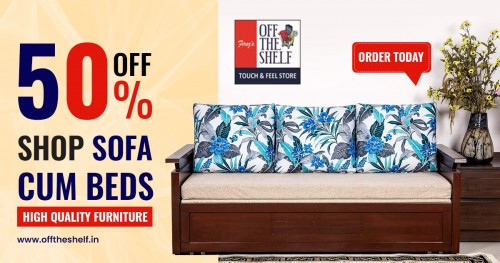 #Offtheshelf Shop for Sofa Cum Beds. Wide variety of High-Quality Furniture Catering to Home & Office Segments. Buy now! Long-lasting furniture. Quick delivery. Comfortable Mattresses. Comfortable Furniture. Just click and order now from home.  Order Online: https://offtheshelf.in/  Collections: https://offtheshelf.in/collections/sofa-cum-bed  Call or WhatsApp: +91 9987821618