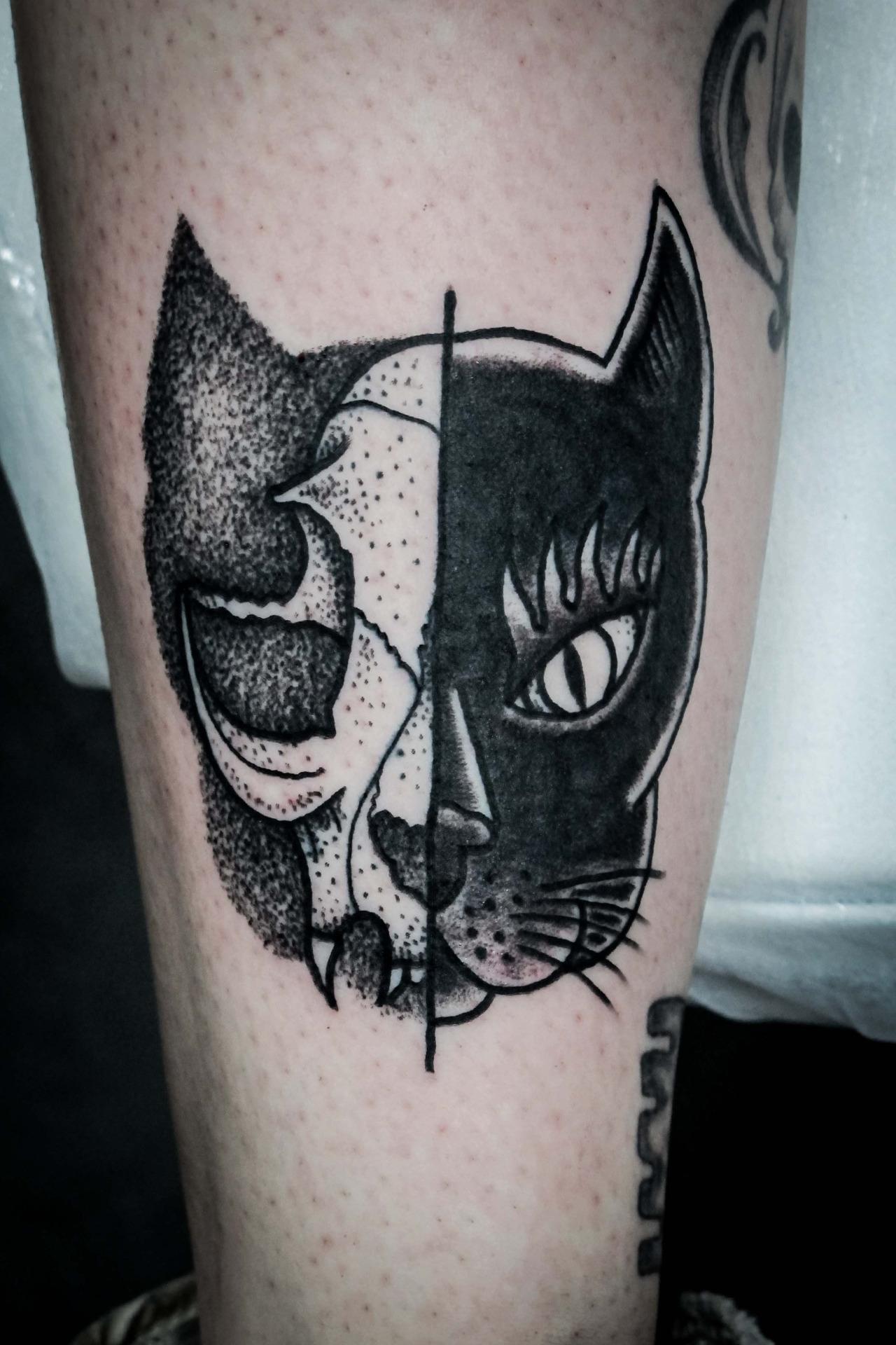 Тюремное тату кот фото
